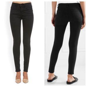 Frame denim faded black skinny jeans